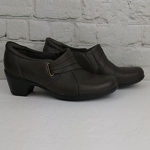 Clarks Bendables Gray Leather Shooties 6
